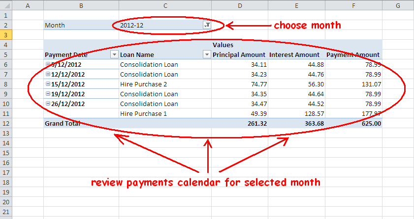 Car loan amortization calc
